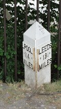 Image for Leeds Liverpool Canal milestone – Saltaire, UK