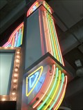 Image for Neon Theatre Sign - MOSI, Tampa, Florida, USA.
