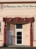 Image for Maori Carved Doorway. Opotiki. New Zealand.