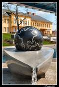 Image for Kugel Ball in front of railway station, Ceská Trebová, Czech Republic