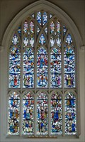 Image for Stained Glass Window - St Andrew's Church, Orwell, Cambridgeshire, UK.