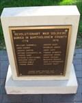 Image for Bartholomew County  Revolutionary War Memorial - Columbus, Indiana