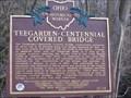 Image for Teegarden-Centennial Covered Bridge Historical Marker:  #15-15