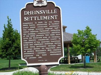 Dheinsville Settlement Marker in Dheinsville.