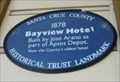 Image for Bayview Hotel blue plaque - Aptos, CA