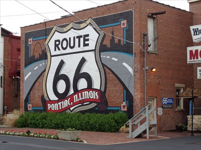 Gigantic Route 66 Highway Shield