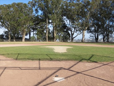 View from Home Plate to Outfield, San Francisco, California