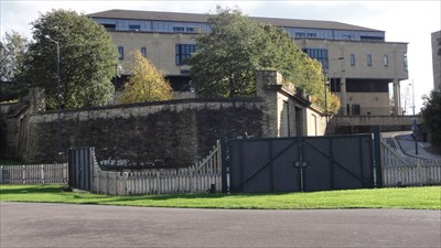 The modern building in the background is the Crown Court and stands on the site of the old station.