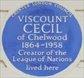 Image for Viscount Cecil of Chelwood - South Eaton Place, London, UK