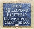 Image for St Leonard Eastcheap - Eastcheap, London, UK
