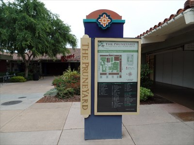 Sign west side of the plaza
