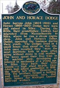 Image for John and Horace Dodge - Niles, Michigan