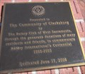 Image for Clarksburg Rotary Club Plaque - Clarksburg, CA