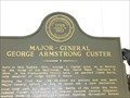 Image for Major General - George Armstrong Custer - Historical Marker - Monroe, Michigan, USA.