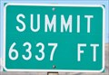 Image for Highway 132 Summit ~ Elevation 6337 Feet