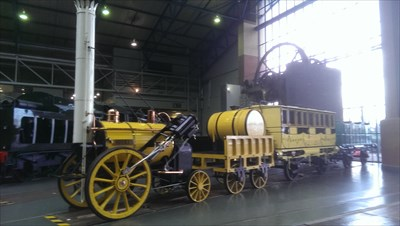 Lord Abercrombie visited National Railway Museum - York, Great Britain.
