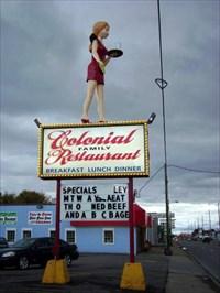 """Big Girl"" Waitress - Colonial Family Restaurant - Flint, Michigan"