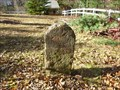 Image for Franklin Mile Marker - 71 Miles From Boston - 1767 Milestones - Warren, MA