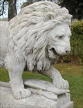 Image for Lion statues, Chlum u Hradce Kralove, Czech Republic