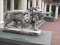 Image for Lion statutes at the Sonnenberg Belvedere and pergola - Canandaigua. NY