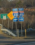 Image for LAST -- mile of the I-30EB, at the junction with I-40, North Little Rock AR