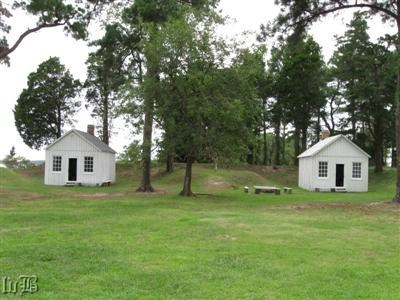 Reconstructed officers quarters at Fort Lincoln on Point Lookout