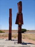 Image for 9-11 Memorial - Satellite Oddity - Winslow, Arizona, USA.