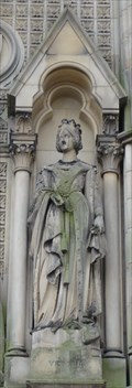 Image for Queen Victoria At City Hall Entrance - Bradford, UK