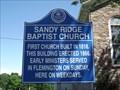 Image for Sandy Ridge Baptist Church Historic Marker
