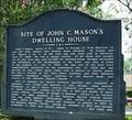 Image for Site of John C. Mason's Dwelling House (2 sided)-Eatonton Baptist Church-Putnam Co