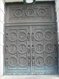 Image for Notre Dame Catholic Church Door - Southbridge, Massachusetts
