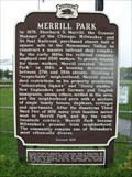 Image for Merrill Park Historical Marker