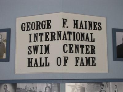 HOF Sign, International Swim Center, Santa Clara, California
