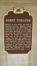 Image for Pabst Theater Historical Marker