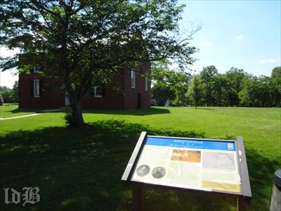 A CWDT marker at the courthouse where several Confederate VA units were formed.