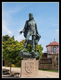 Founder of the city with his dog - Nové Mesto nad Metují