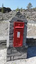 Image for Llechwedd Slate Caverns Entrance Post Box – Blaenau Ffestiniog, North Wales, UK