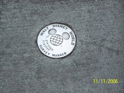 Close up of WDW survey mark #1345400.