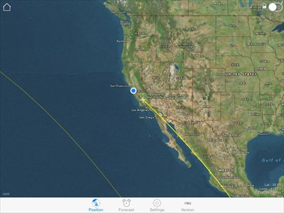 ISS Spotter Screenshot of space station path