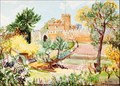 "Image for ""Hertford Castle"" by Irene Hawkins – Moat Garden, Hertford Castle, Hertford, Herts, UK"