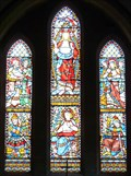 Image for Stained Glass Window - St Giles Church, Tadlow, Cambridgeshire, UK.