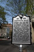 """Image for Institute Hall / """"The Union is Dissolved!"""" 10-69 - Charleston, SC"""