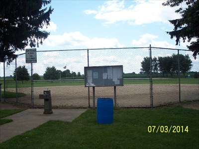 Ball field at Paw Paw Township Park, by MountainWoods
