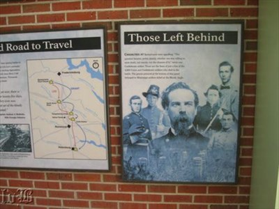 Some of the displays at the exhibit shelter.