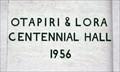 Image for 1956 — Otapiri & Lora Centennial Hall — Otapiri, New Zealand