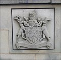Image for Metropolitan Borough of Bradford Coat of Arms in Centenary Square –Bradford, UK