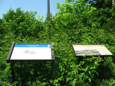 The VA CWT and CWPT signs side by side.