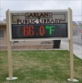 Image for Garland Public Library Time & Temperature