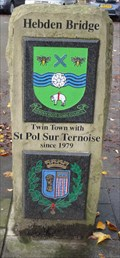 Image for Town Centre St. Pol Sur Ternoise Twinning Marker – Hebden Bridge, UK