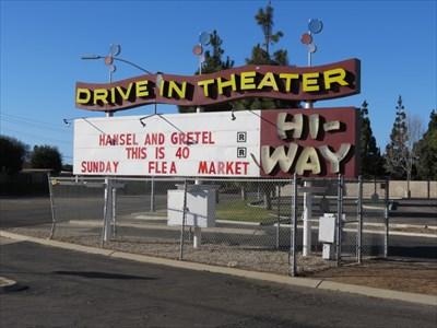 Hi-Way Drive-In Theater Sign, Santa Maria, CA